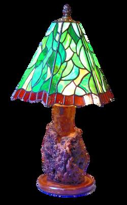 Cherrywood burl base lamp
