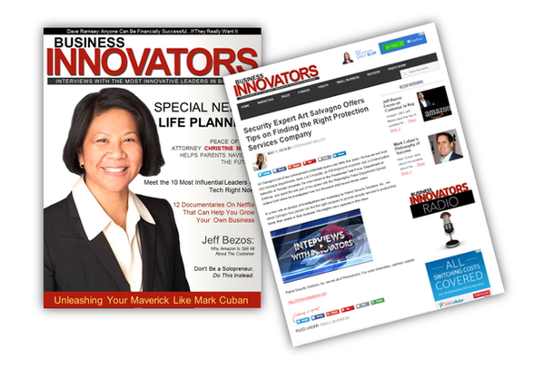 Your interview will be published in Business Innovators Magazine