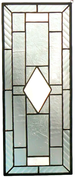 00050-Clear and Textured Glass Panel