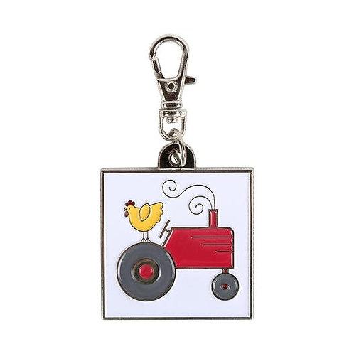 Farm Tractor Enamel Happy Charm - Lori Holt - Bee In My Bonnet