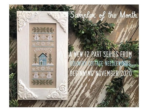 Sampler of the Month - January-  by Country Cottage Needleworks