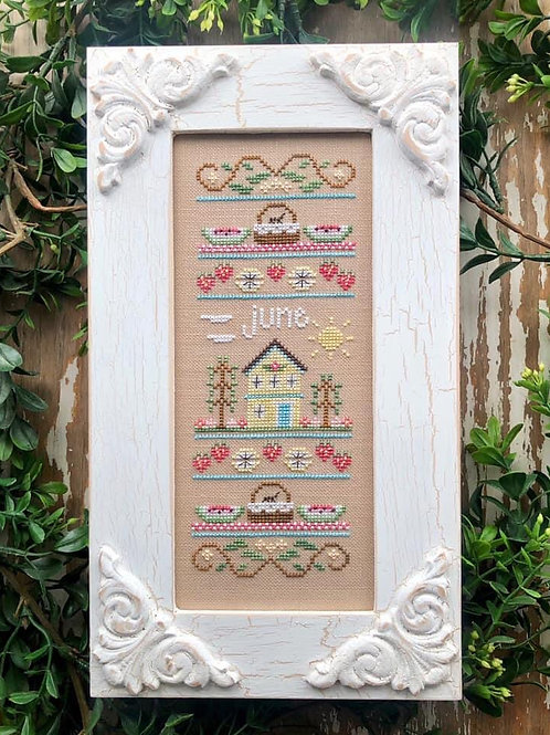 June - Sampler of the Month  by Country Cottage Needlework