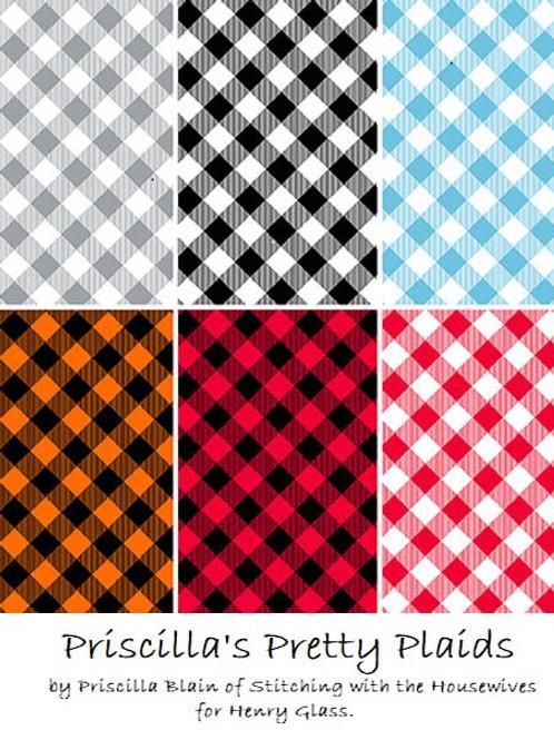 Priscilla's Pretty Plaids - Yardage Bundle