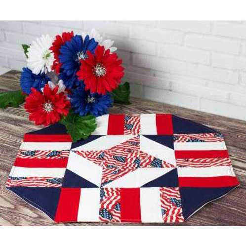 Easy Patriotic Table Topper by Cathey Laird for Cut Loose Press