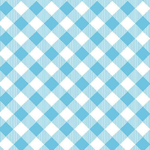 Priscilla's Pretty Plaids - Blue / White Buffalo Check