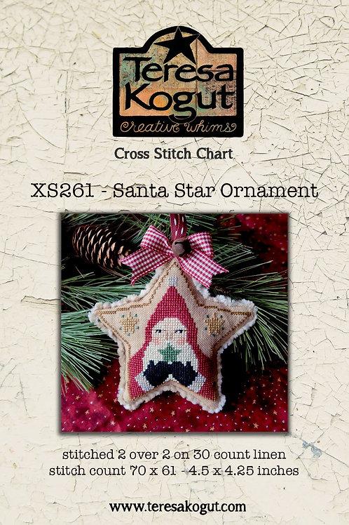 Santa Star Ornament SX261 by Teresa Kogut
