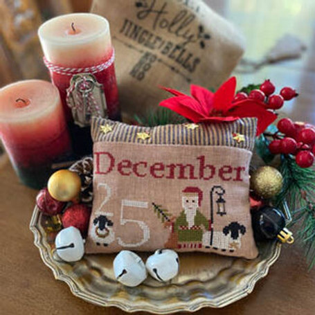 December 25th Pillow by Mani di Donna