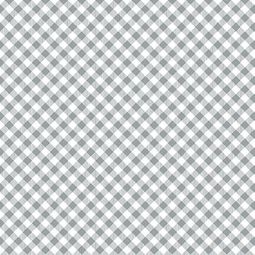 Chelsea's Checks - Grey/White - 1 Yard Cut - Stitching with the Housewives