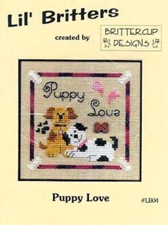 Puppy Love - Lil' Britters - Cross Stitch Pattern
