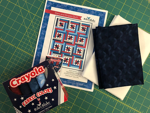 Stars and Stripes Quilt Kit - by Riley Blake Designs