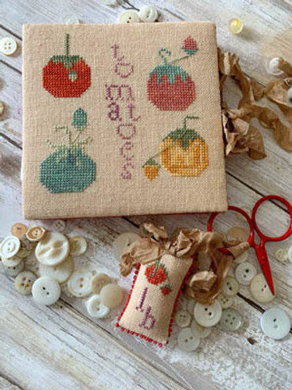 Heirloom Tomato Needle Book & Scissor Fob - by Lucy Beam Love in Stitches