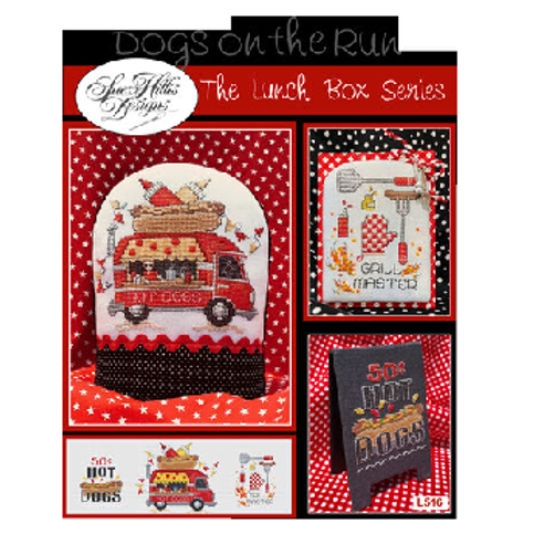 Dogs On The Run - The Lunch Box Series - Sue Hillis Designs
