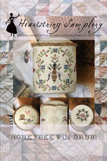 Honeybee Pin Drum - Heartstring Samplery - Cross Stitch Pattern