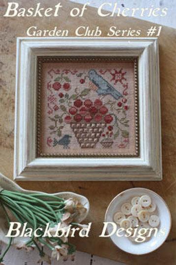Basket of Cherries - Garden Club Series #1 - by Blackbird Designs