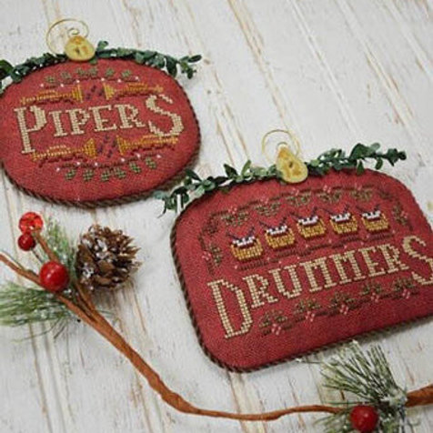 Pipers & Drummers - 12 Days - by Hands On Design