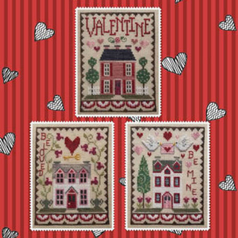 Valentine House Trio - by Waxing Moon Designs