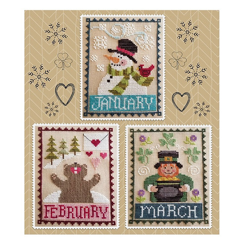 Monthly Trios January, February & March - by Waxing Moon Designs