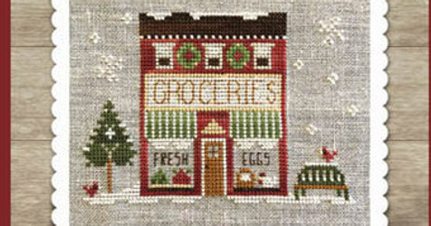 Hometown Holiday - Grocery Store - by Little House Needleworks