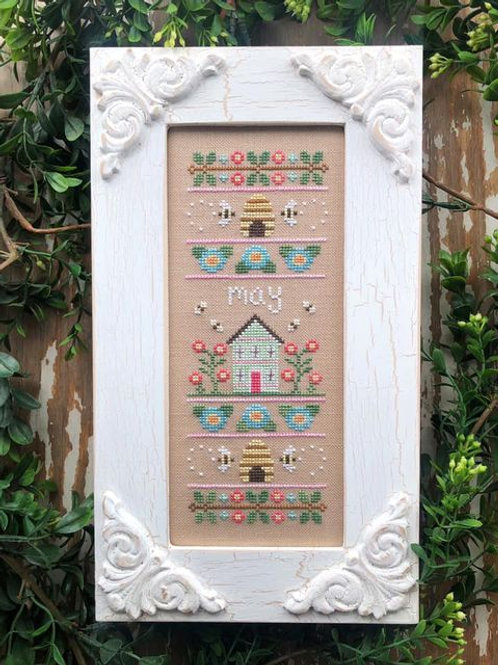 May - Sampler of the Month - Country Cottage Needleworks