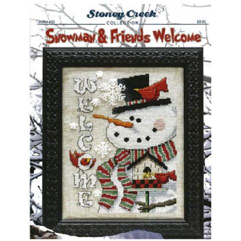 Snowman & Friends Welcome - Stoney Creek - Cross Stitch Pattern