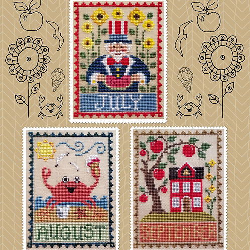 Monthly Trios - July, August & September - by Waxing Moon Designs