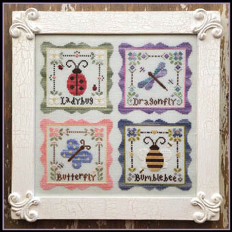 Garden Party Chart Pack - Country Cottage Needleworks - Cross Stitch Pattern