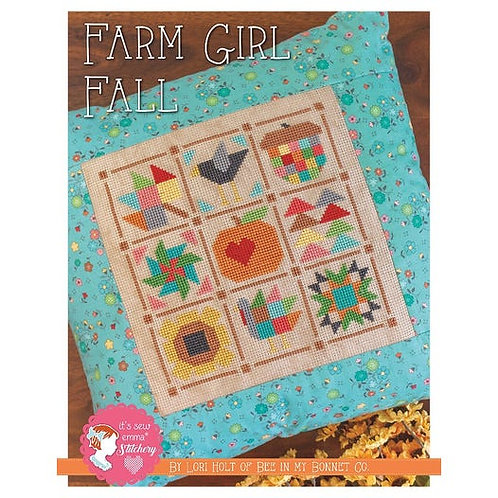 Farm Girl Fall Cross Stitch Pattern by  Lori Holt for It's Sew Emma