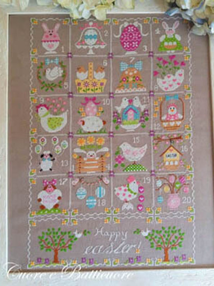 Shabby Easter Calendar - by Cuoree Batticuore