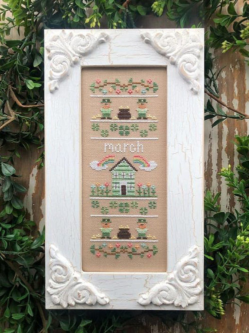 Sampler of the Month - March - by County Cottage Needleworks