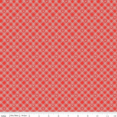From the Heart Plaid Red sku: C10056-RED by Sandy Gervais for Riley Blake Fabric