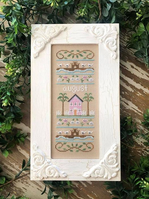 Sampler of the Month - August - by Country Cottage Needleworks