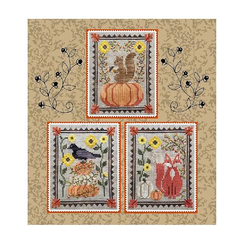 Bittersweet Trio - Waxing Moon Designs - Cross Stitch Pattern