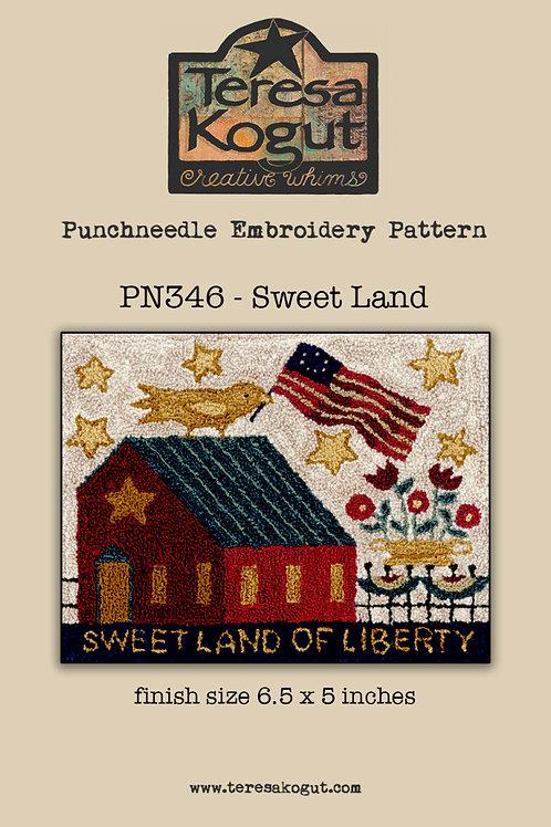Sweet Land - Punchneedle Pattern - by Teresa Kogut
