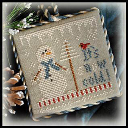 2012 Ornament 8 - It's Snow Cold - Little House Needleworks