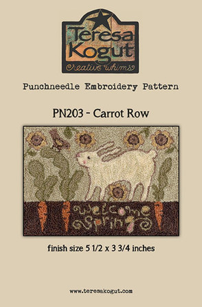 Carrot Row - Punchneedle Pattern