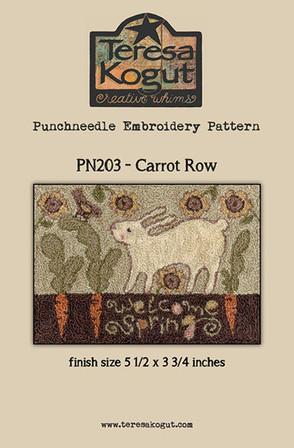 Carrot Row - Punchneedle Pattern