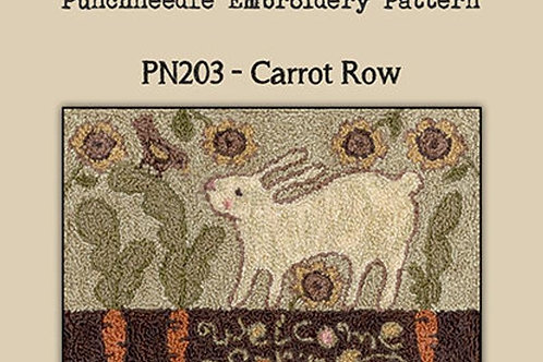 Carrot Row PN203- by Teresa Kogut - Punchneedle