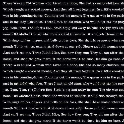 Goose Tales by J. Wecker Frisch - Text Black # C9400-BLACK - Riley Blake Designs