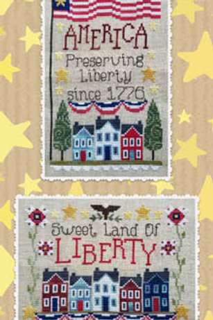 Preserving Liberty - Waxing Moon Designs - Cross Stitch Pattern