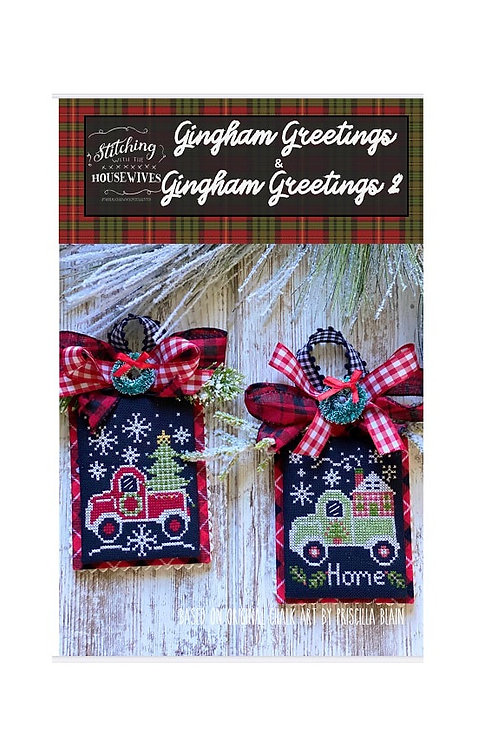 Gingham Greetings 1 & 2 - Stitching With the Housewives
