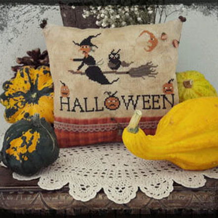 Happy Halloween by Tina - Fairy Wool in the Wood - Cross Stitch Pattern