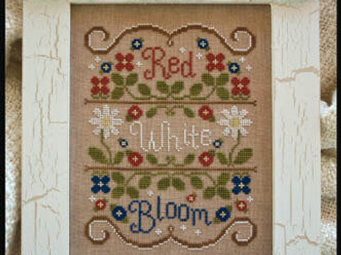 Red, White and Bloom- by Country Cottage Needleworks