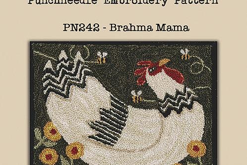 Brahma Mama PN242 - Punchneedle Pattern - by Teresa Kogut
