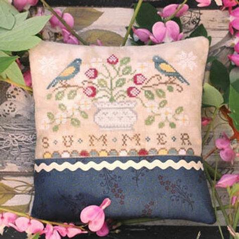Seasons - Summer - Lila's Studio - Cross Stitch Pattern - Flowers - Birds
