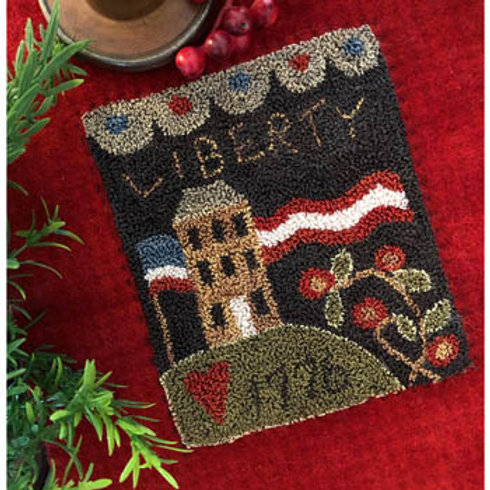 Liberty House (Punchneedle) - by Little House Needleworks