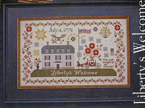 Liberty's Welcome - Plum Street Samplers - Cross Stitch Pattern
