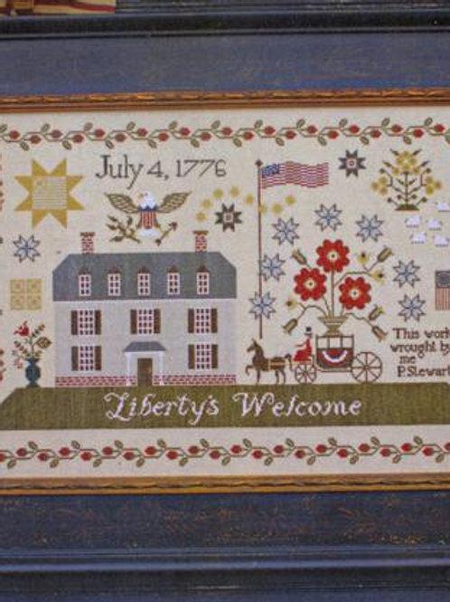 Liberty's Welcome - Plum Street Samplers - Cross Stitch Pattern