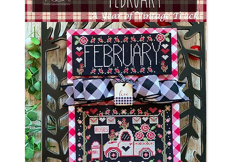 February Truckin' Along by Stitching with the Housewives