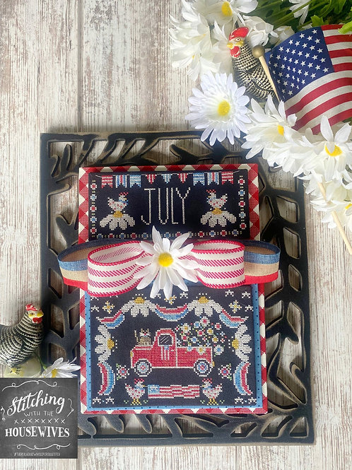 July - Truckin' Along Series - Priscilla Blain - Stitching With the Housewives
