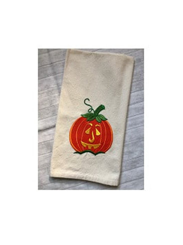 Halloween Kitchen or Guest Bath Towel - Embroidered Cotton Towels